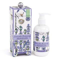 Lavender Rosemary Lotion   #giftsforthespalover #giftsforthespaloverbathandbody #giftsforthespalovernaturalproducts #giftsforthespaloverlavender #lavenderfields