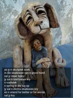 Afrikaans, Wire Art, Cute Funny Animals, Lion Sculpture, Board, Quotes, Strong Quotes, Quotations, Wire Work