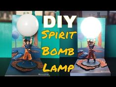 DIY Spirit Bomb Lamp (Dragon Ball Z) | SupersaiyaBuilds #2 - YouTube