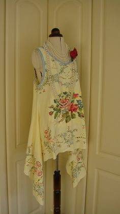 Beautiful+Vintage+Cotton+Linen+Lemon+Rose+by+PrettyUnusuall