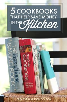 Eating at home is WAY more cost-effective than eating at a local restaurant or grabbing takeout. These 5 cookbooks have made it to the top of my money-saving favorites, and I rely on them constantly to stretch our meals!