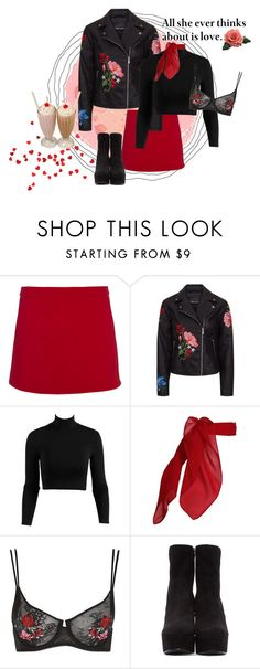 """""""you've really got a hold on me"""" by rhiahale ❤ liked on Polyvore featuring Victoria, Victoria Beckham, TC Fine Intimates, Topshop and Yves Saint Laurent"""