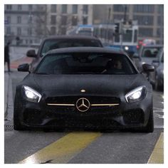 LG EXOTIC AUTO TRANSPORT Got one?  Ship it with http://LGMSports.com Matte Black & Gold Mercedes AMG GTS  Via @millionaireswealth   @basel.cars