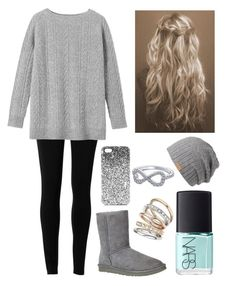 """Untitled #184"" by abbyferb ❤ liked on Polyvore featuring Max Studio, UGG Australia, Wallis, NARS Cosmetics, Barts and Topshop"