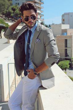 Cool Blue Coordinates + a Tie Bar #menswear