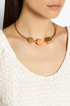 Chloé   Gold-tone marble necklace   NET-A-PORTER.COM