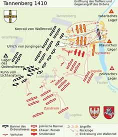 The Battle of Grunwald, Battle of Zalgiris or First Battle of Tannenberg was fought on 15 July 1410 during the Polish–Lithuanian–Teutonic War. Fantasy Castle, Fantasy Map, Battle Of Tannenberg, Military Tactics, Story Drawing, Weapon Of Mass Destruction, Total War, French Revolution, Knights Templar