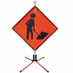 P/N: GAP-R&R. Fits & and rigid & roll-up highway signs. Steel spring and legs.