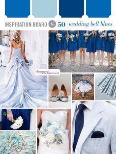 Inspiration Board #50: Wedding Bell Blues | Elegance & Enchantment