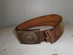 WW1 Militaria / German Belt and Buckle / Authentic German Militaria / Prussian Belt Buckle and Belt by Eklektibles on Etsy