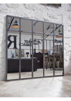 Miroir industriel par le marchand d 39 oublis miroir mon for Miroir industriel verriere