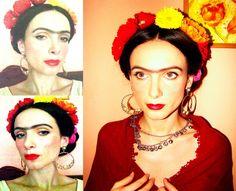 I recreated the classic Frida Kahlo's look!