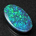 Natural black opal from Australia