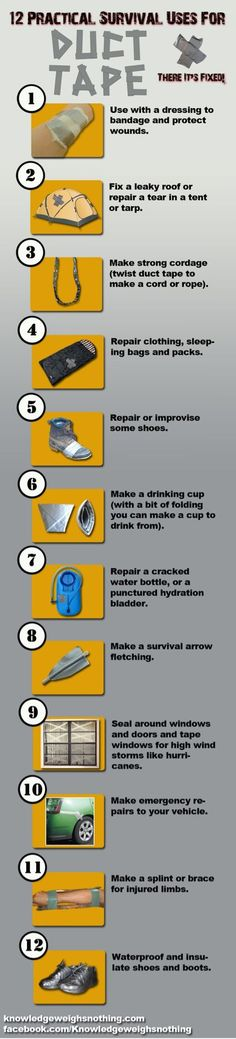 Survival Uses for Duct Tape: Bushcraft and Survival