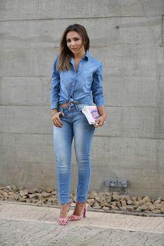 Lalá Noleto » Look do Dia – SPFW – Jeans + Jeans
