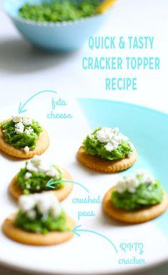 Crushed Pea and Feta Cracker Snacks | Ritz Fresh Stacks Crackers