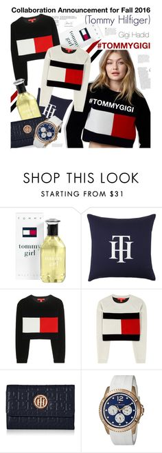 """""""TOMMYGIGI"""" by pisces7 ❤ liked on Polyvore featuring Tommy Hilfiger, tommyhilfiger, gigihadid and TOMMYGIGI"""