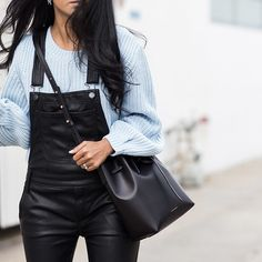 22 Crazy Good Ways to Wear Leather: We love leather year-round, but for Fall, the trend is bigger and better than ever before.
