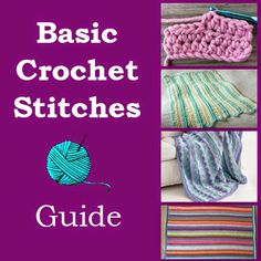 Crochet For Children: Basic Crochet Stitches Guide