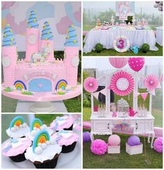 Rainbows And Unicorns Party Planning Ideas Supplies Idea Cake Decor