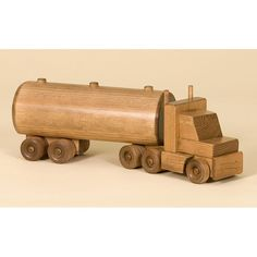 Amish Made Large #Toy Wooden #Tanker #Truck