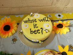 Cake at a Bumble Bee Baby Shower #babyshower #bumblebeecake