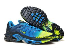 Nike Air Max Tn/Tuned Requin 2015 - Chaussures Pour Homme Bleu/Jaune