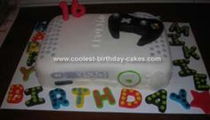 Homemade Xbox 360 Birthday Cake: This Xbox 360 Birthday Cake was made for my son's 16th birthday. He loves to play his video games. I figured it was a cool way of kicking off his gaming