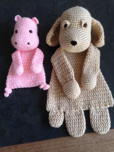 Lappenpop nijlpaard mini en hond