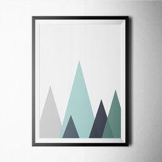 Triangles print, Giclee, Abstract Art, colorful art, minimalist, Abstract print, Geometric poster, Scandinavian print, Wall decor, Prints