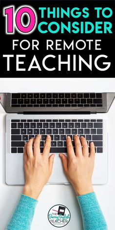 remote learning, teaching remotely, distance learning, distance teaching Here are ten things to consider for your middle school or high school classroom when you switch to distance learning or remote teaching. Online Classroom, High School Classroom, Middle School Teachers, Middle School Science, Business Education Classroom, Online Middle School, School Resources, Learning Resources, Teaching Ideas