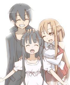 Kirito, Yui & Asuna, Sword Art Online