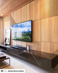 Living Room With Tv Decor Interior Design 17 Best Ideas Tv Feature Wall, Feature Wall Design, Tv Wall Design, Contemporary Interior Design, Modern House Design, Decor Interior Design, Interior Design Living Room, Interior Ideas, Salas Home Theater