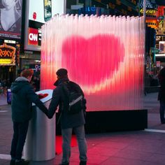 Big ♥ NYC by Bjarke Ingels Group    A single person can activate the beating heart, but joining hands with others will make the heart beat even faster to create a brightly burning heart.