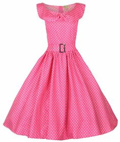 Lindy Bop 'Hetty' Polka Dot Bow Shawl Collar Vintage 1950's Rockabilly Swing Party Dress [UK  Ireland Buy Now: £33.99	 Was £49.99]
