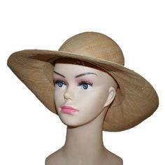 Chapeau capeline femme en raphia – Vannerie Sana