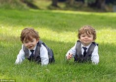 Cole and Logan Weston, the twins who play George Crawley