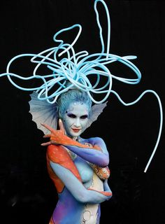 """A model wears body arts by John Vargas of U.S. during 2008 World Body Painting Festival Asia at World Cup Stadium on August 29, 2008 in Daegu, South Korea. The """"World Body painting Festival"""" is the largest Art event in the body painting theme and spreads the art form to thousands of interested visitors each year. Now the Festival is expanding with a vibrant and dedicated team in South Korea to host a second event."""