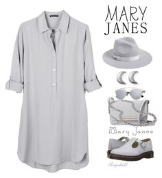 """Sweet Mary Janes"" by ragnh-mjos ❤ liked on Polyvore featuring Dr. Martens, United by Blue, Lack of Color, ChloBo, Danielle Nicole and DaVonna"