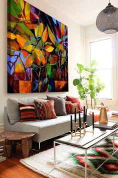 Big Canvas Art, Large Wall Art, Interior Design Curtains, Living Room Designs, Living Room Decor, House Makeovers, Wall Decor, House Design, House Styles