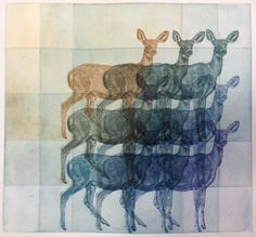 Deer Grid Etching from a fellow Kala artist! Julia Lucey