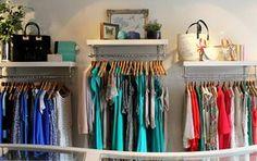 Austique Fashion Boutique Kings Road Chelsea interior image of clothes rail