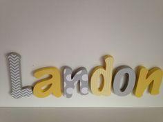 Wooden Letter Boy Nursery 6 Letter Set  7'' by PitterPatterned, $86.00
