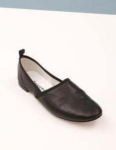 Repetto Page Ankle Strap Slip-on- Black