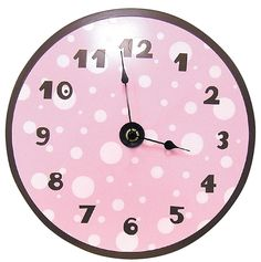 Trend Lab Wall Clock - Pink W/ Brown - Best Price #DiaperscomNursery