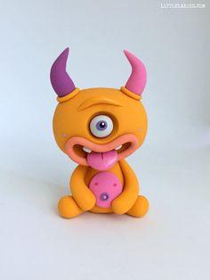 Random CYCLOPS LittleLazies 1 Miniature Monster Polymer Clay
