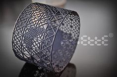 Printed plastic (with 3d printer) - Dentelle (Lace) bracelet by Bobo Miette