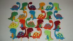24 Dinosaur Cupcake Toppers, Dinosaur Birthday Theme, Dinosaur baby shower, Dinosaur Party Decorations