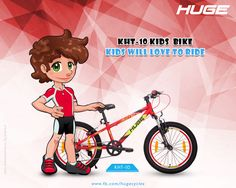 #Huge #Kids #Bike model the #KHT-10 is making #Kids #dreams of #Riding & #learning #bikes come true. The High Tech #bike for #children is #adorned with advanced & #reliable #accessories. For Product Inquiry call at : 9041021821