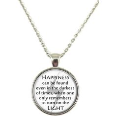 Harry Potter Necklace Happiness Can Be Found Darkest Light Lightning... ($6.99) ❤ liked on Polyvore featuring jewelry, necklaces, chain jewelry, pendants & necklaces, pendant chain necklace and chain necklace